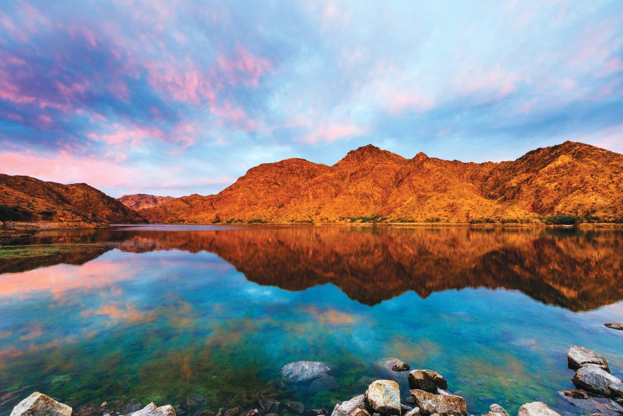 Nearby Lake Mead Recreation Area is perfect for boating, hiking, cycling and more