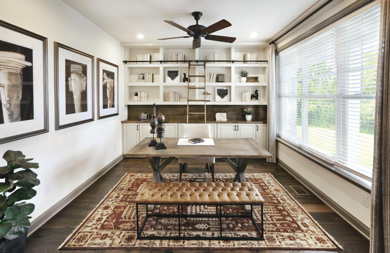 Graphic depiction: Beautiful home offices for optimal work-from-home productivity