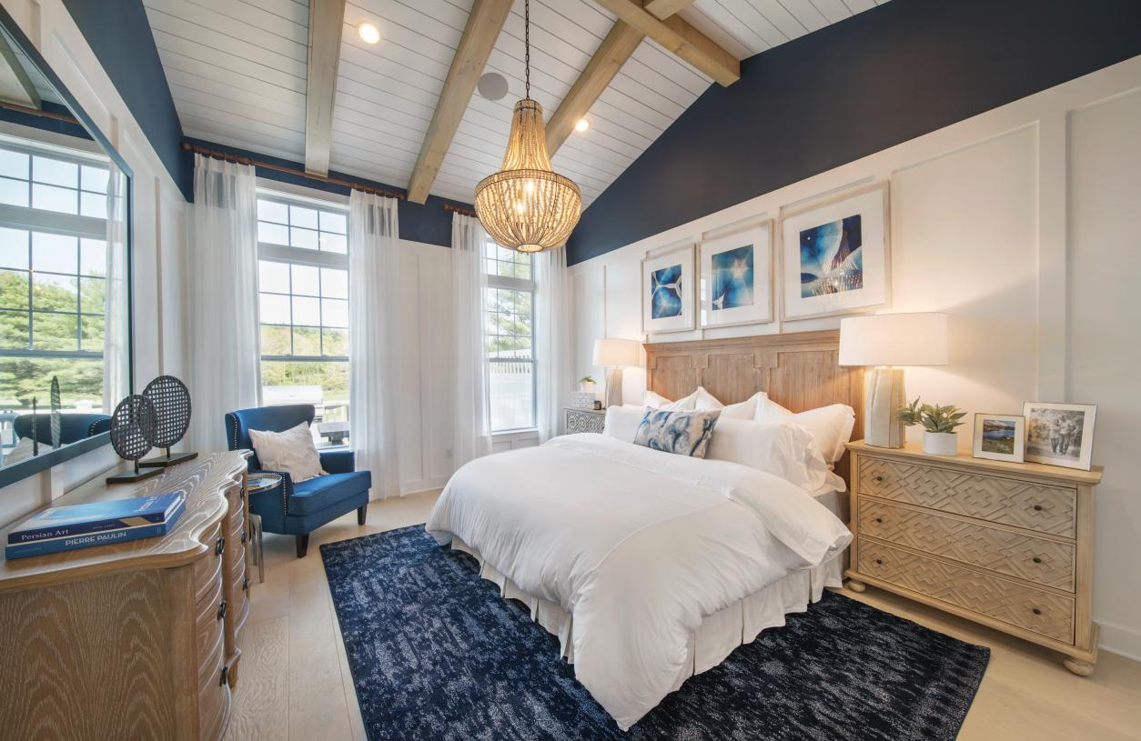 Graphic depiction: Luxurious primary bedroom suites provide the perfect retreat