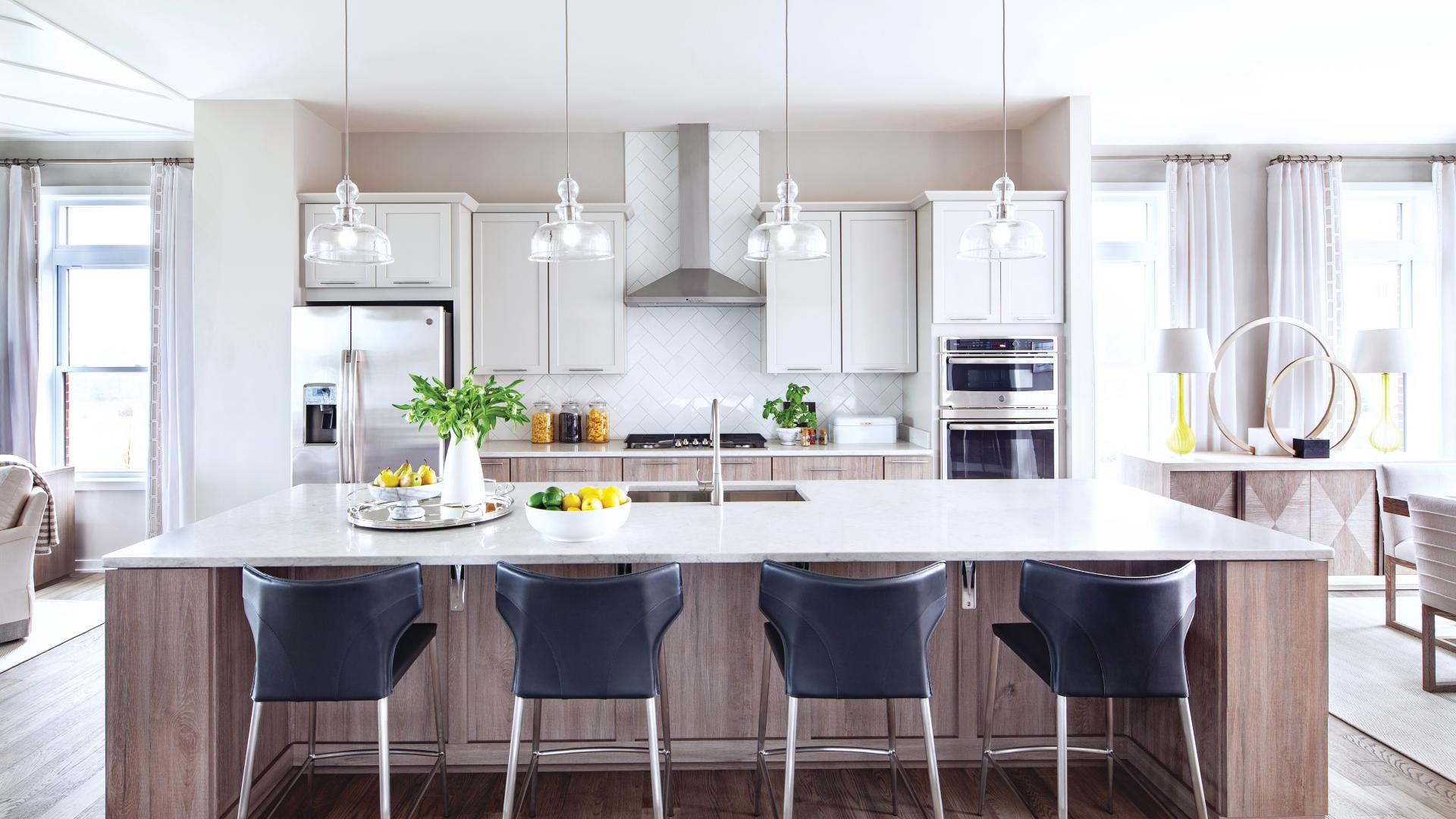 Graphic depiction: Well designed kitchens with numerous upgrade options
