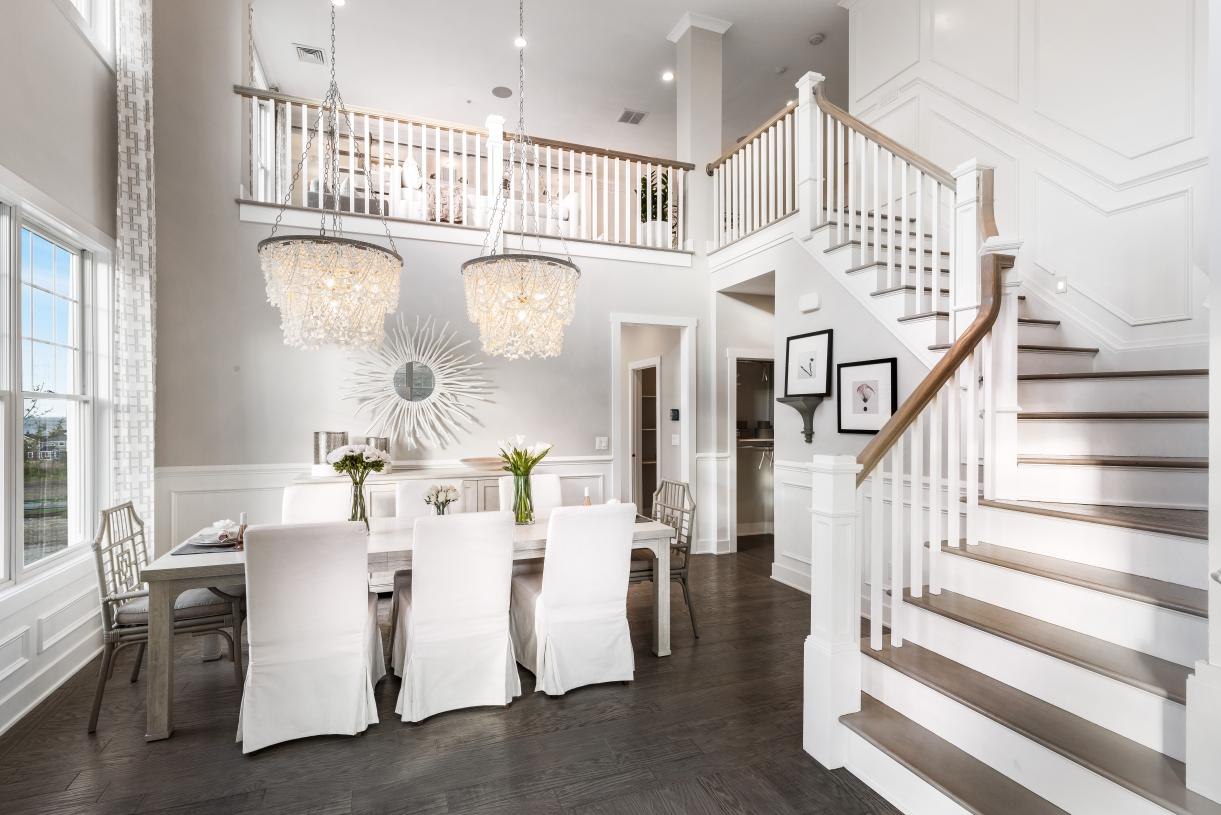 Graphic depiction: Breathtaking entry and dining room