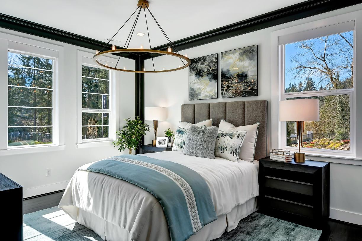Main floor bedrooms are perfect for guests or multi-generational living