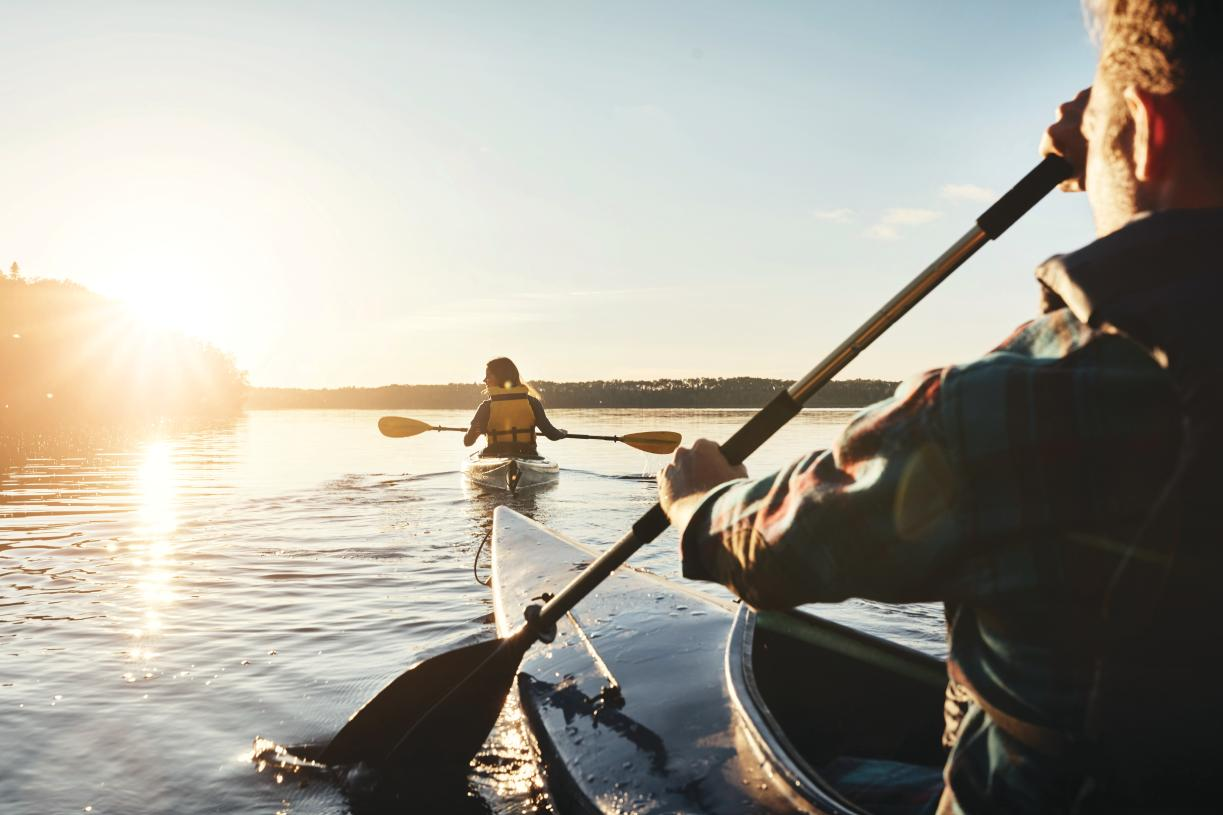 Explore the great outdoors at nearby Jordan Lake