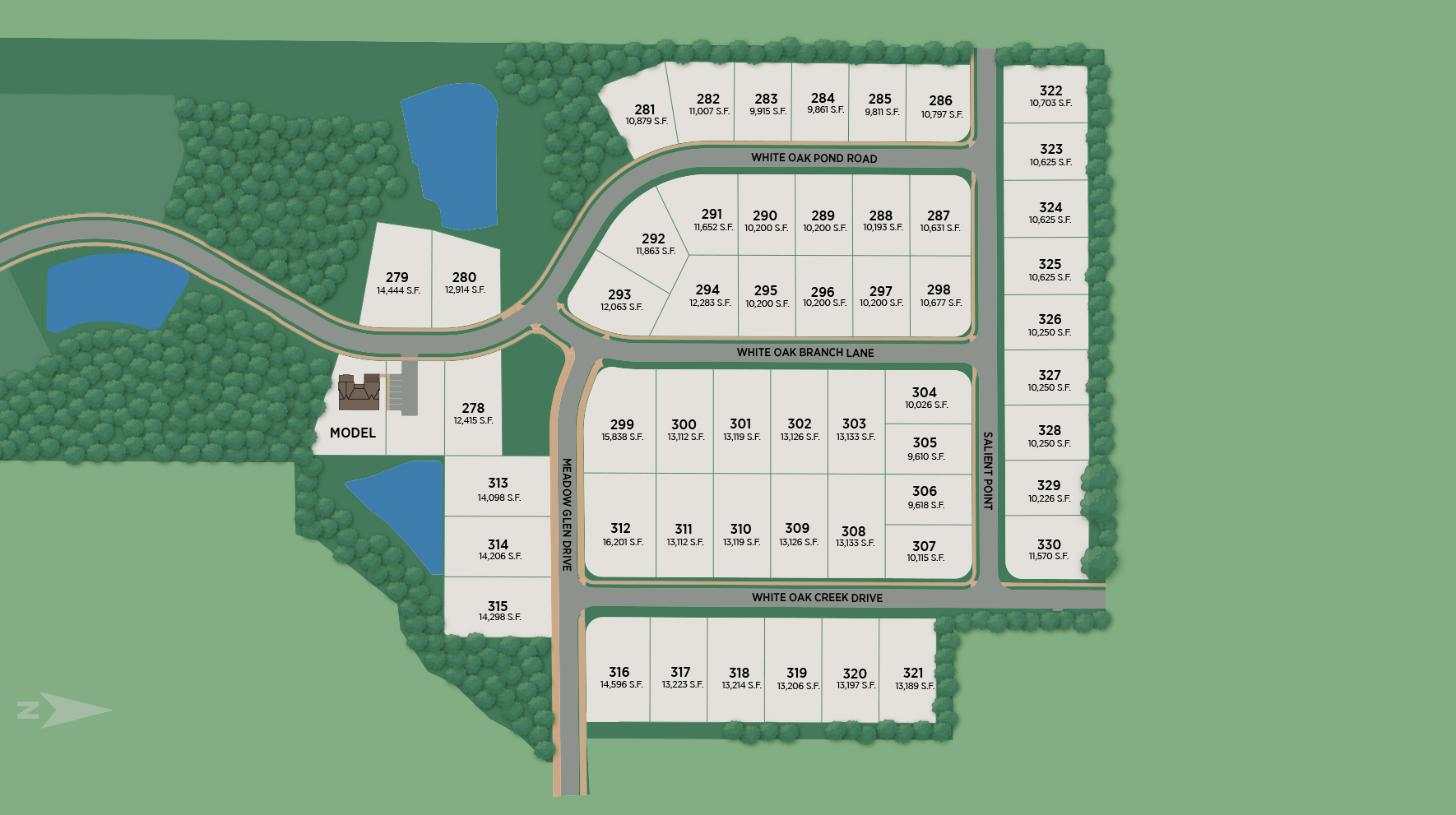 Toll Brothers at Preserve at White Oak Site Plan