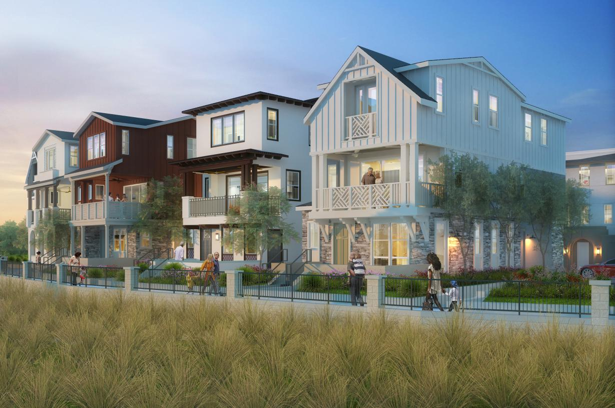 3-story single family homes overlooking the Promenade