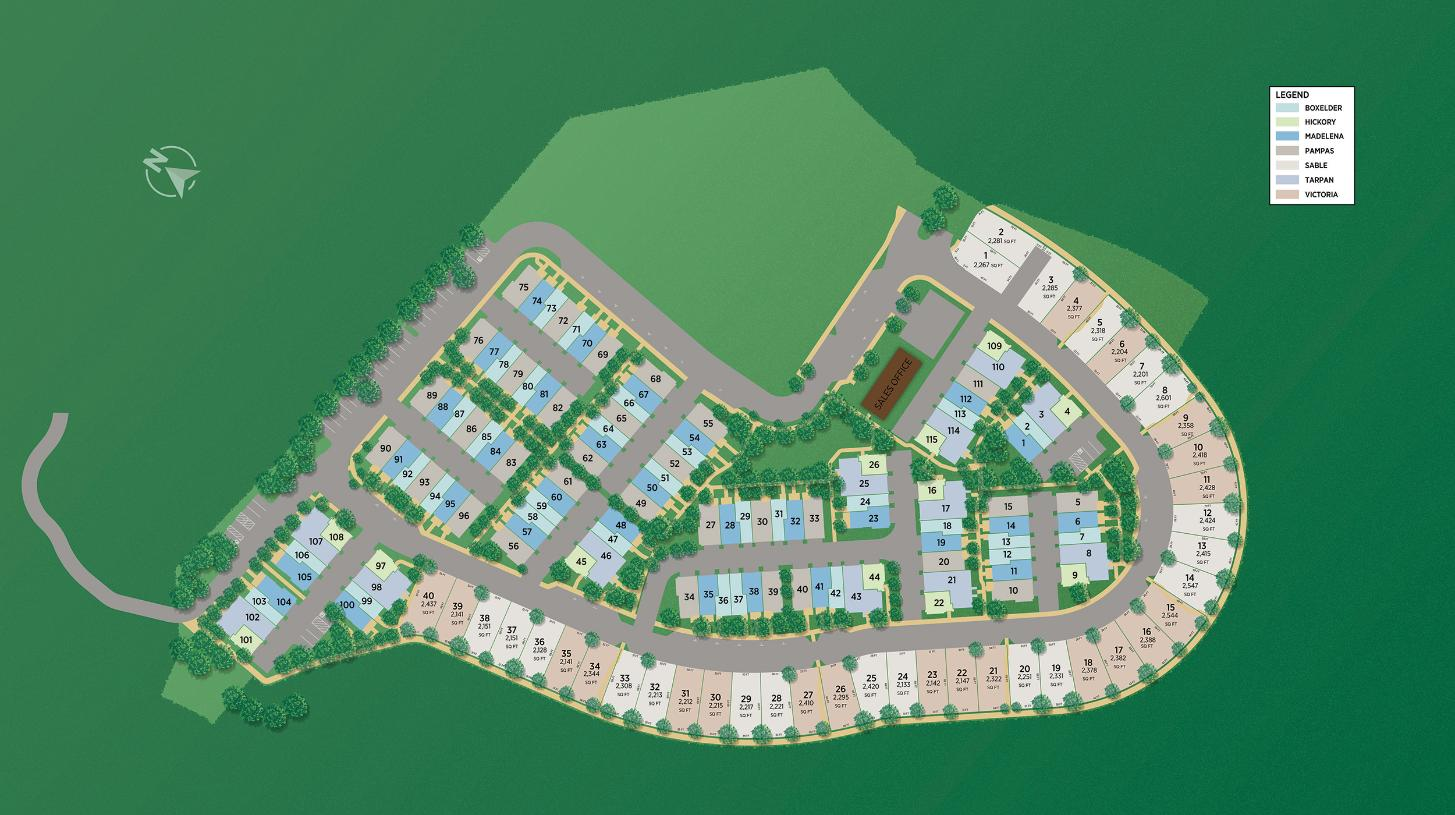 Twin Oaks Overall Site Plan