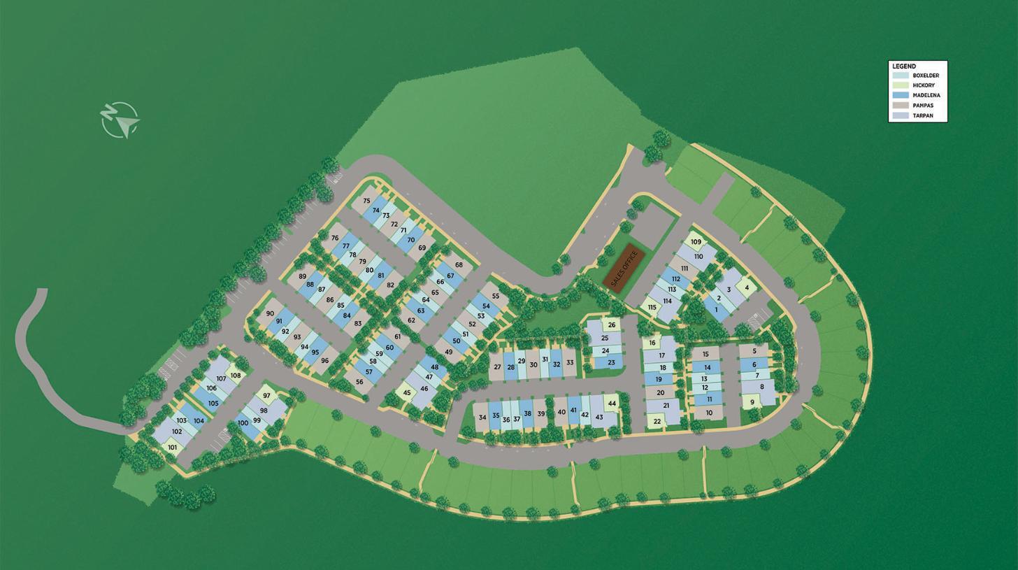 Twin Oaks - Grove Site Plan
