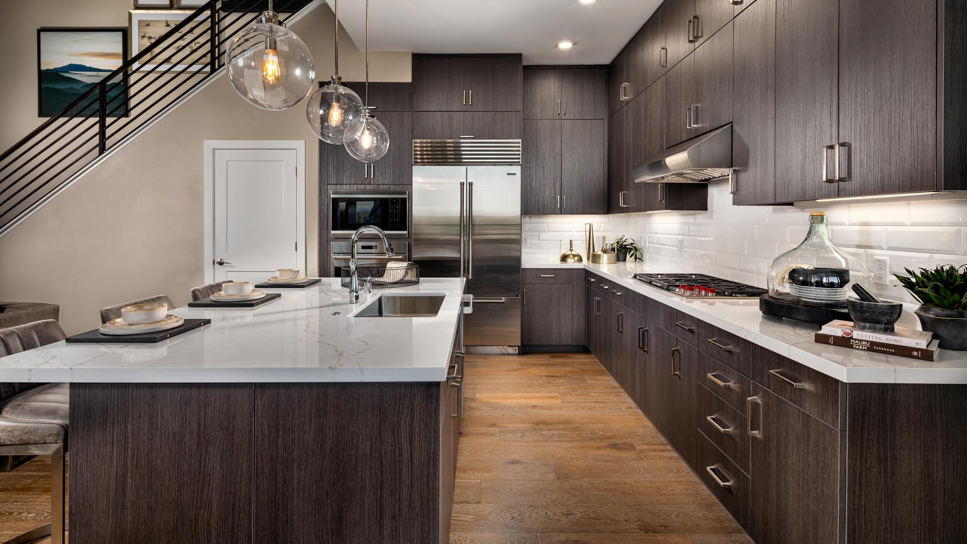 Beautiful gourmet kitchens with breakfast bars