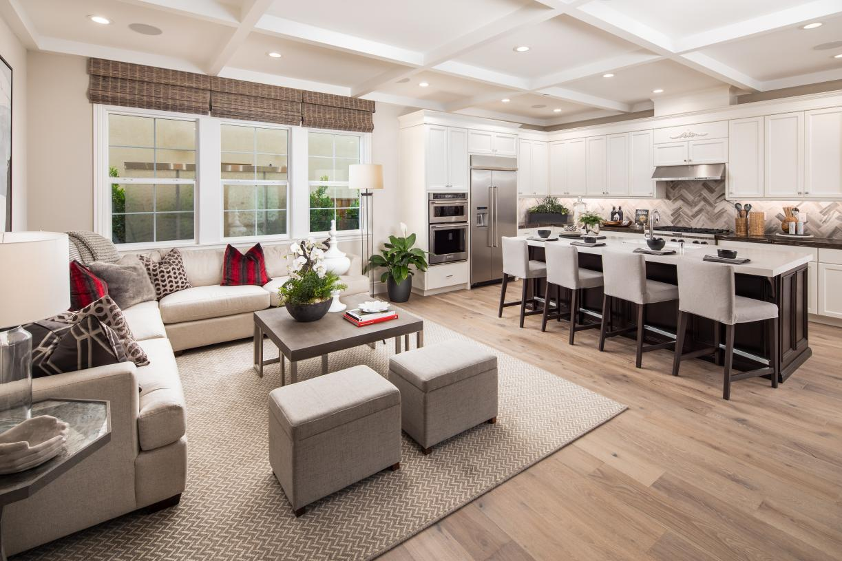 Open-concept great room perfect for entertaining