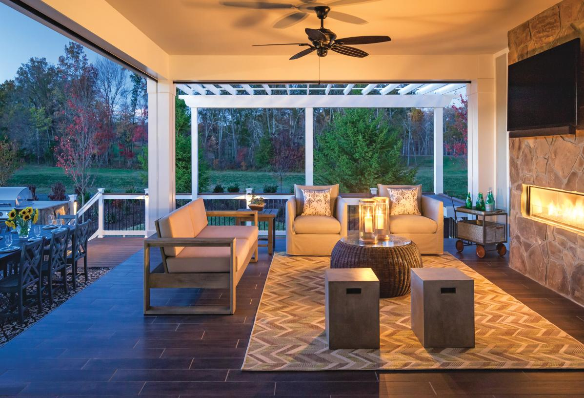 Possibilities are endless when creating an outdoor living space
