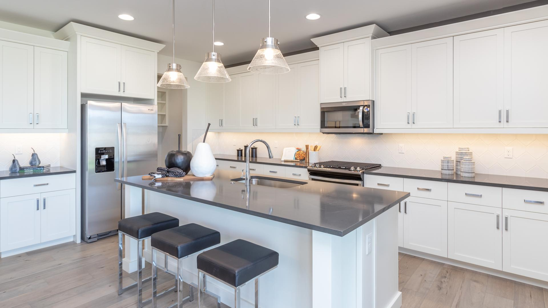 Sleek modern kitchens with ample prep space