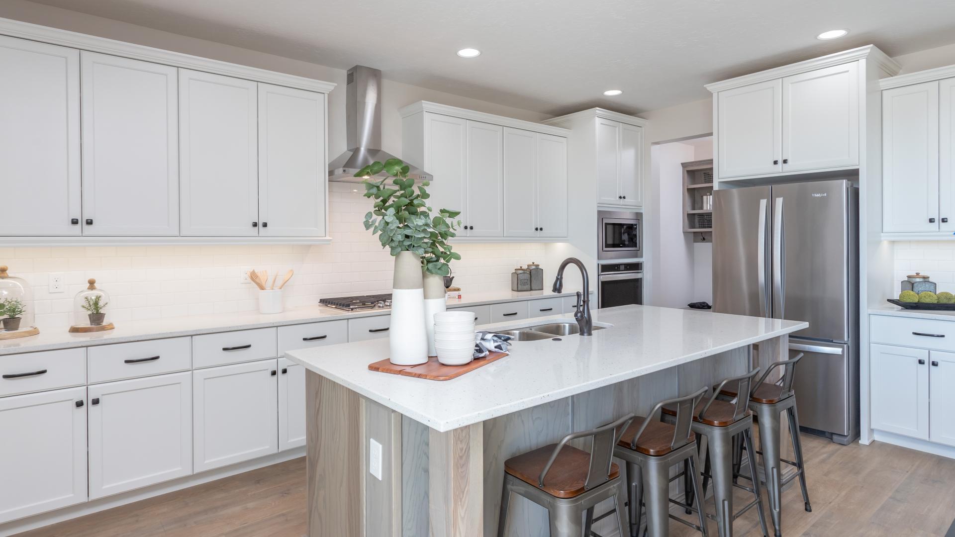 Spacious kitchen space