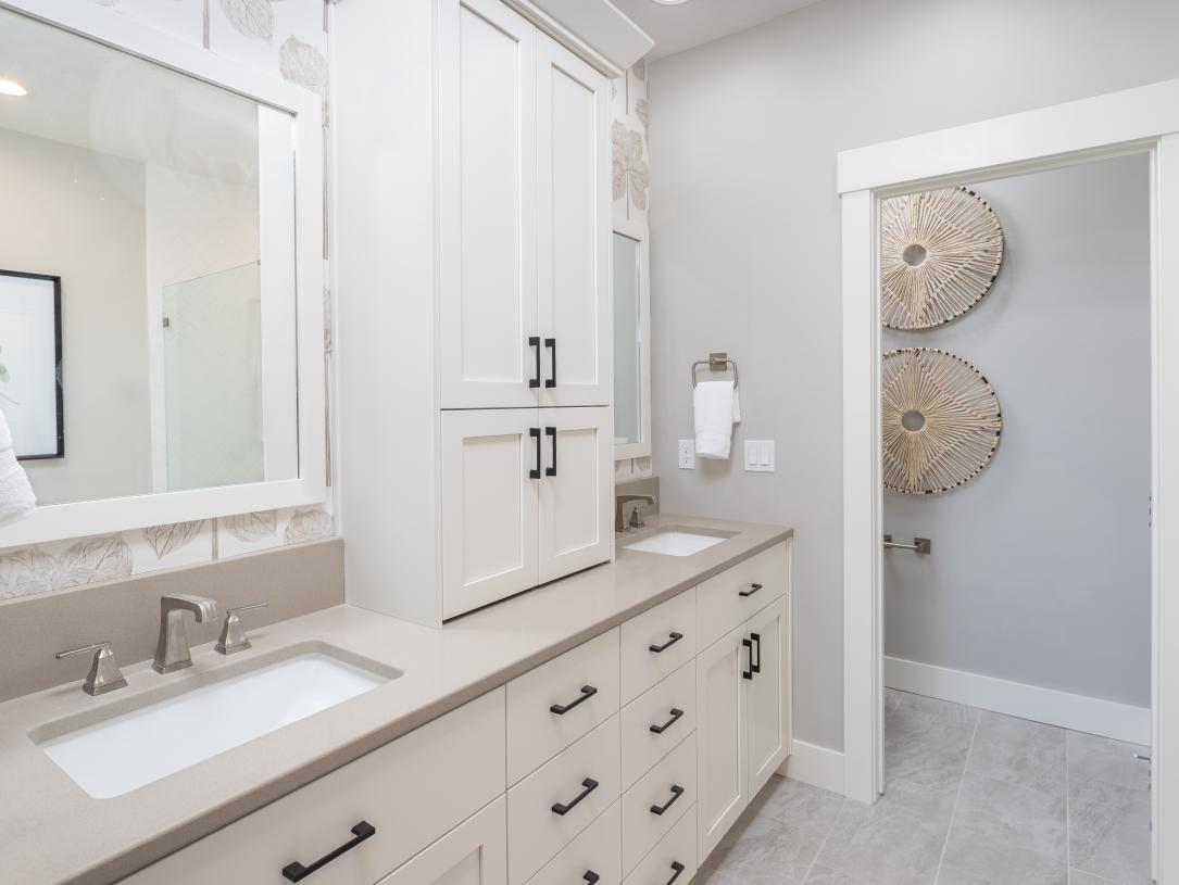 Elegant primary bathrooms