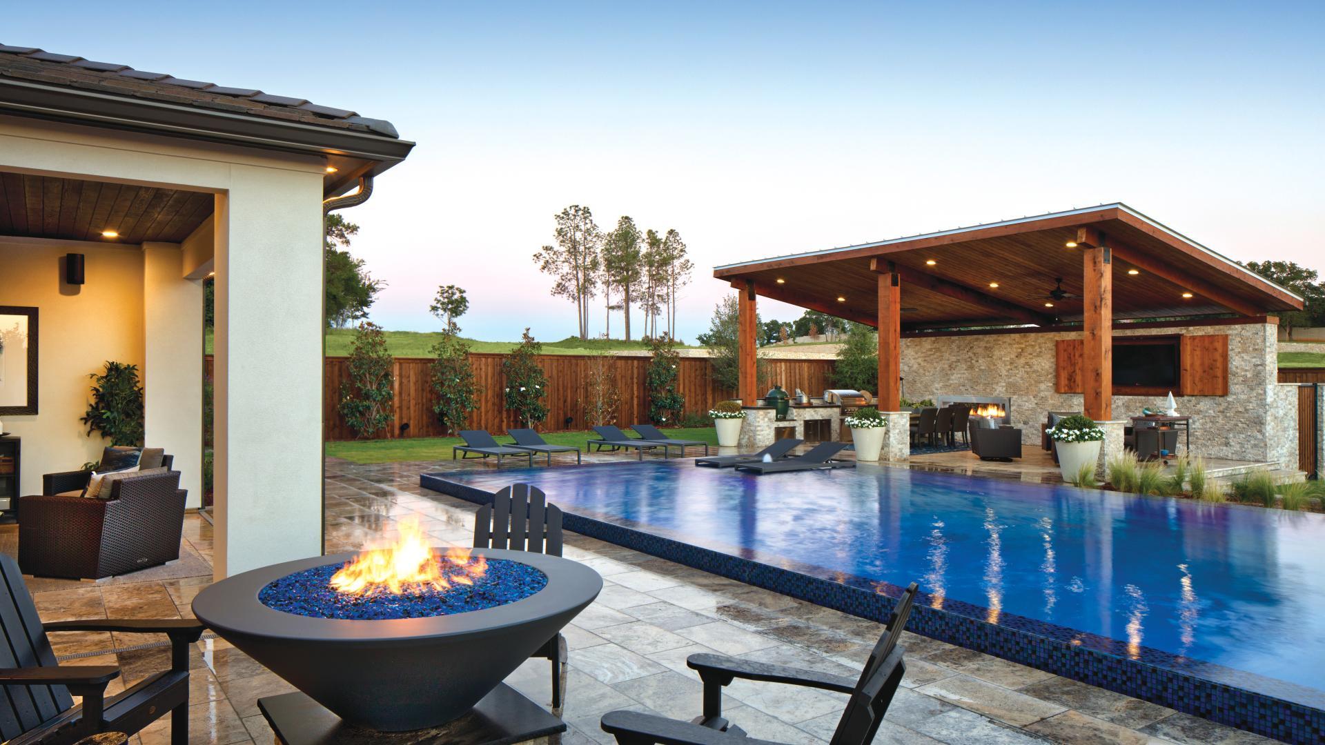 Ample space to create an idyllic backyard retreat