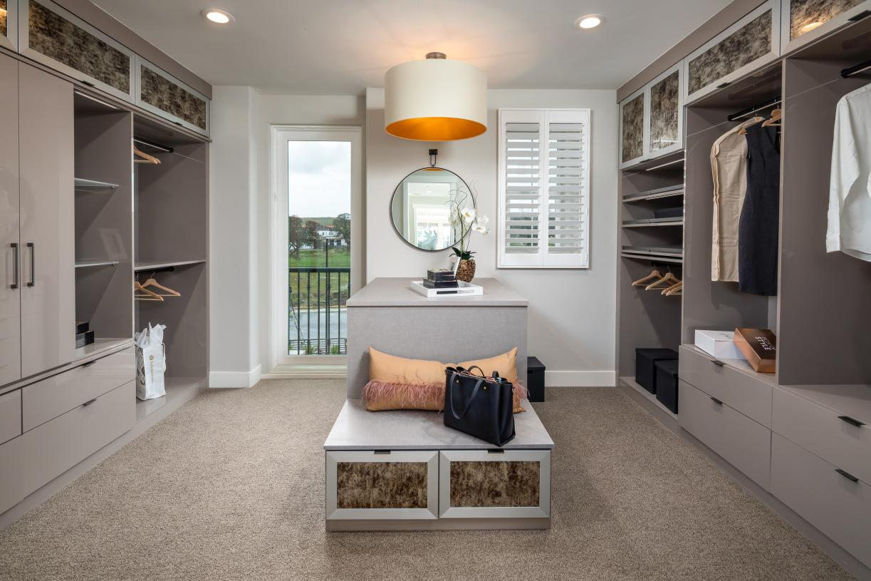 Large primary suite walk-in closets