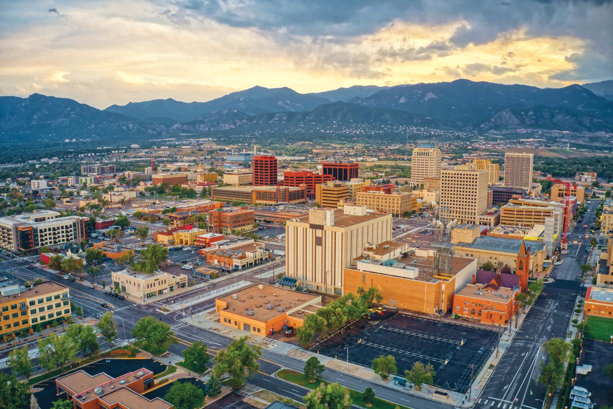 Conveniently located minutes from Downtown Colorado Springs
