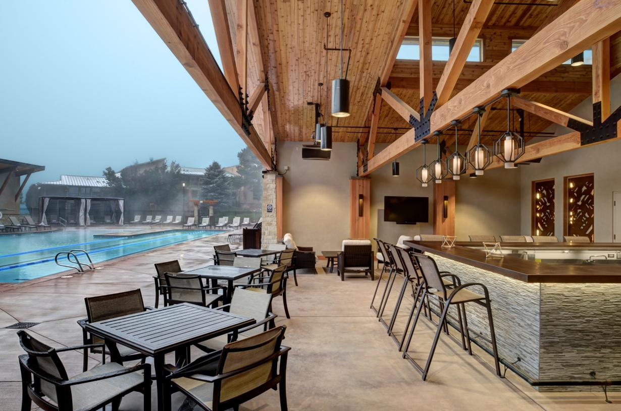 Relax by the pool and have lunch at the clubhouse