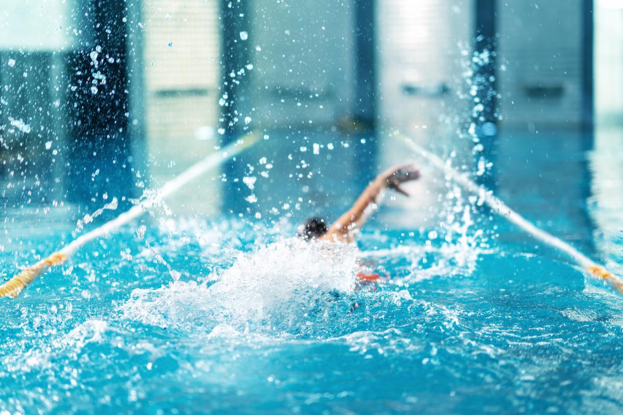 Enjoy a swim in the indoor or outdoor community pools