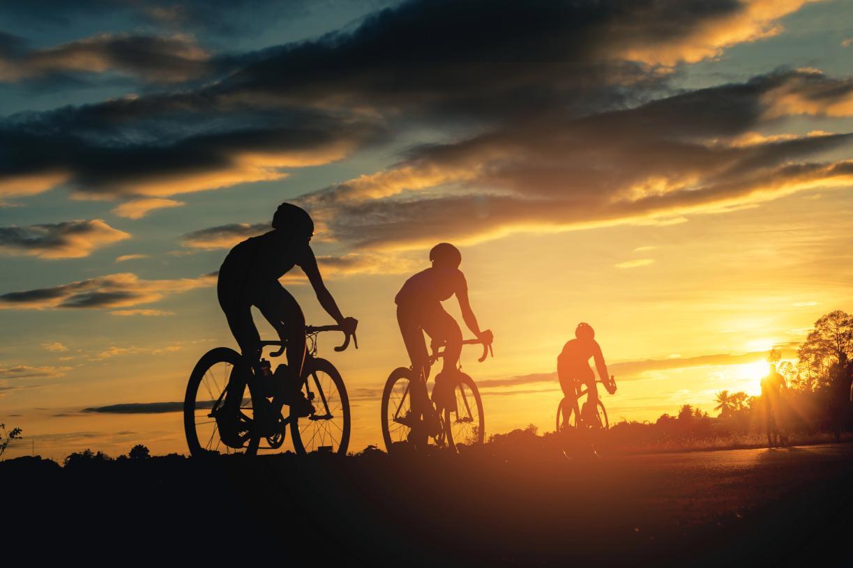 Enjoy a bike ride through the area trail system