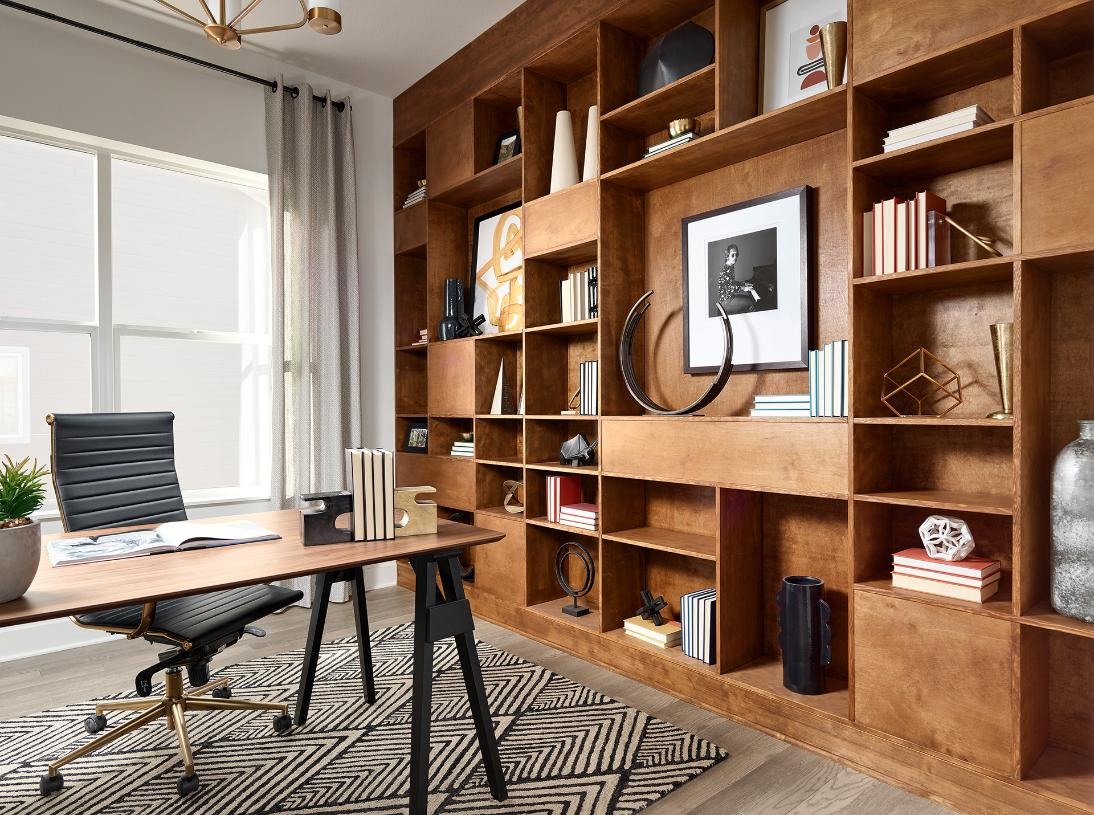 Versatile flex space option can be used as an office