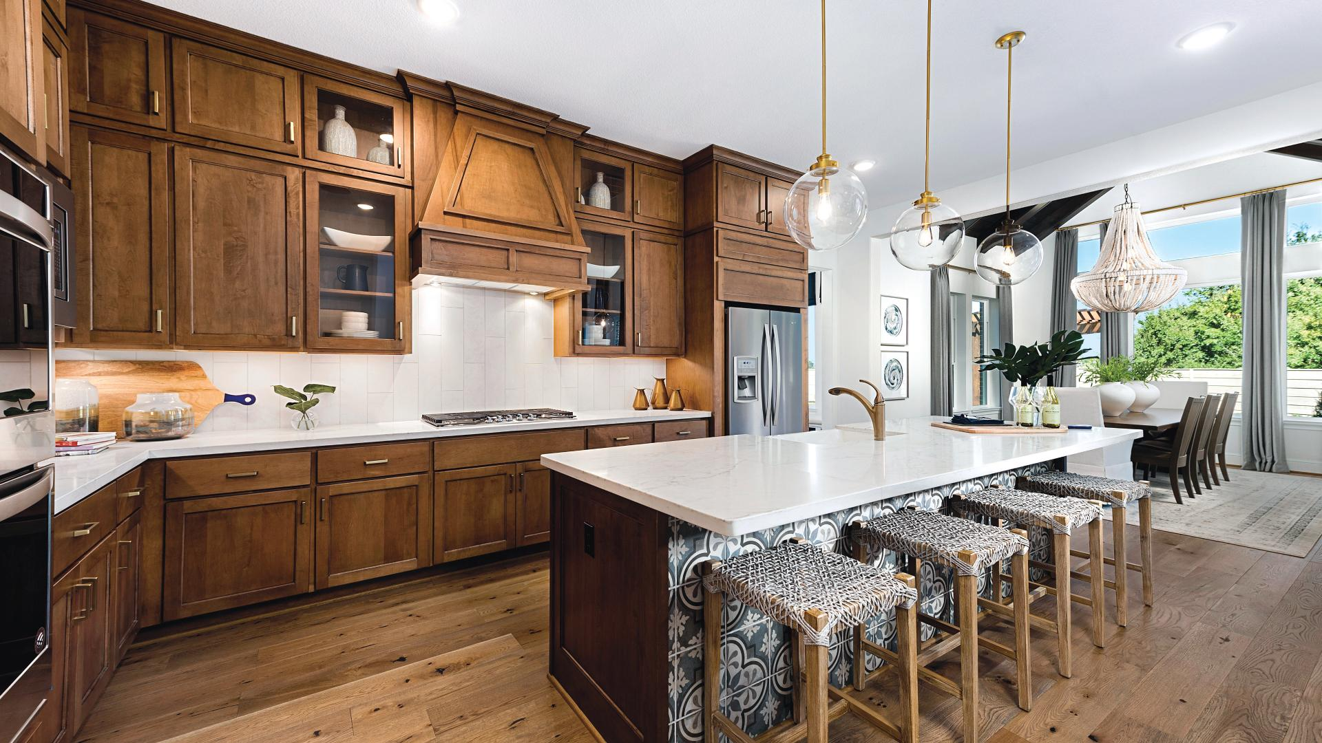 Gourmet kitchen with ample counter space