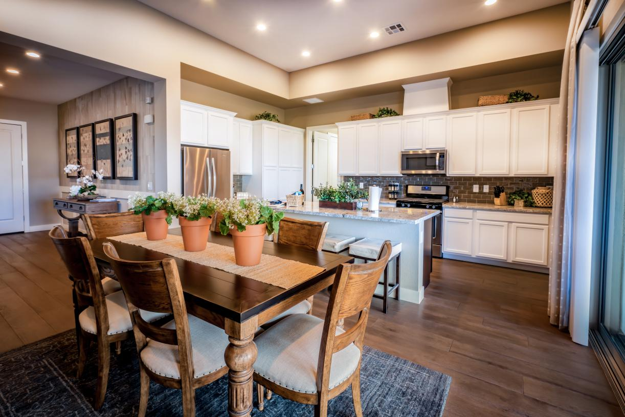 Kitchen island plus additional counter space for ease of entertaining