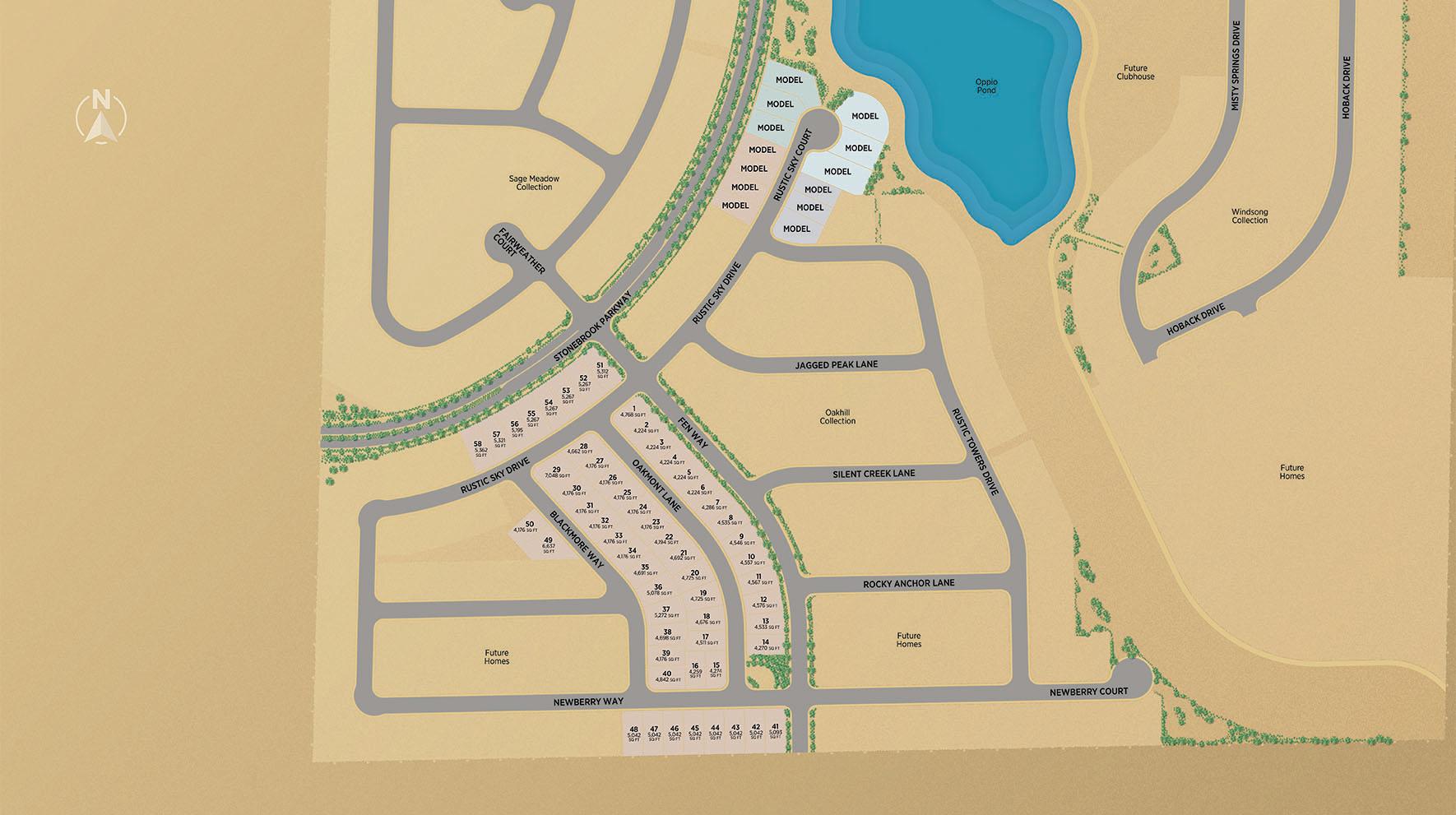 Regency at Stonebrook - Glenridge Collection Site Map