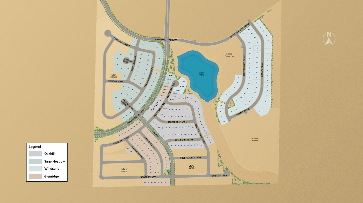 Regency at Stonebrook - Overall Site Map