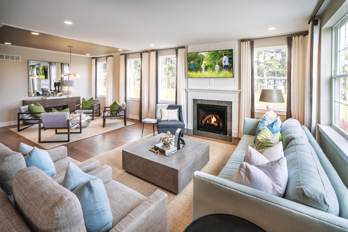 Spacious great room in open-concept floor plans