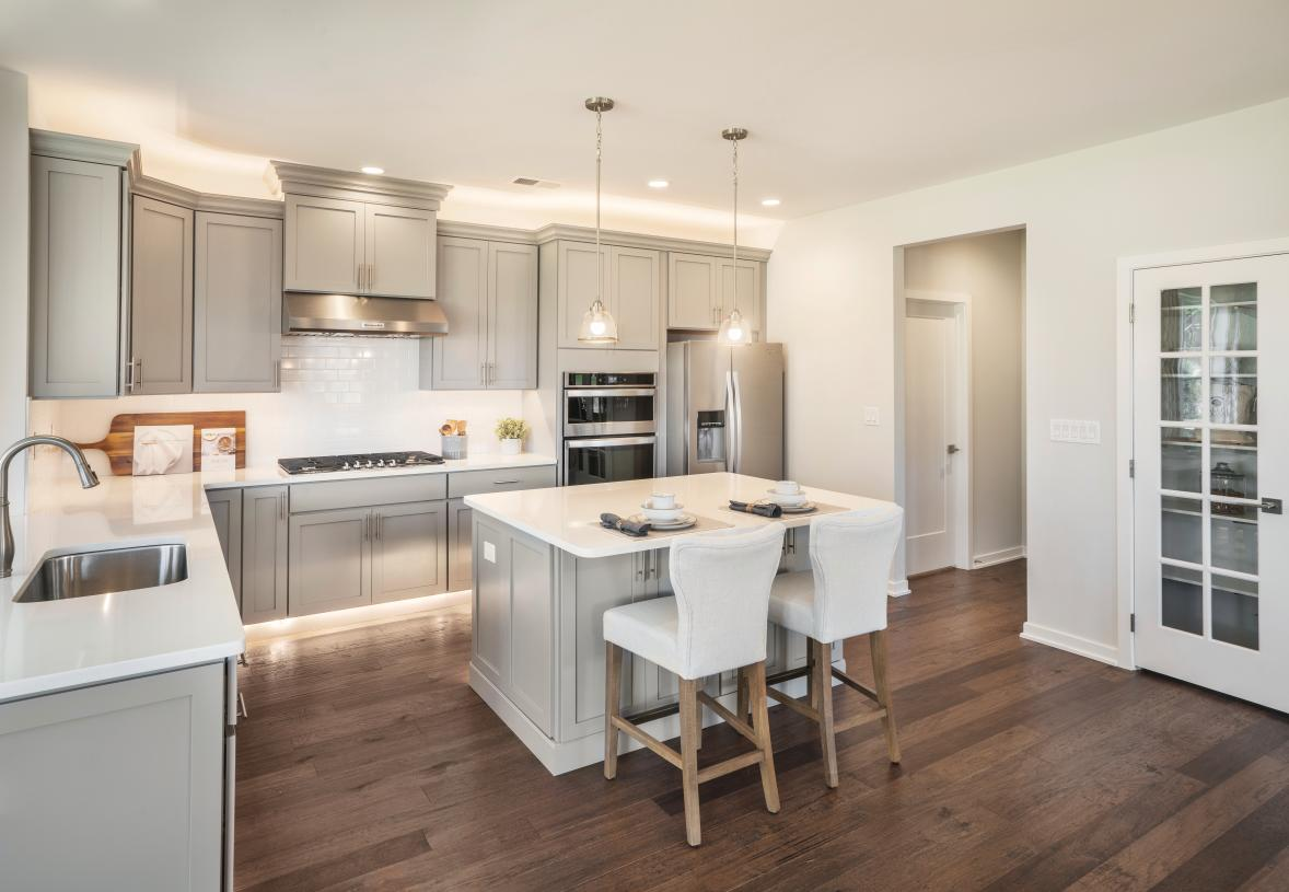Well-designed kitchen with center island