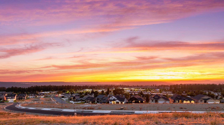 Enjoy stunning sunsets from your Sundance Ridge home