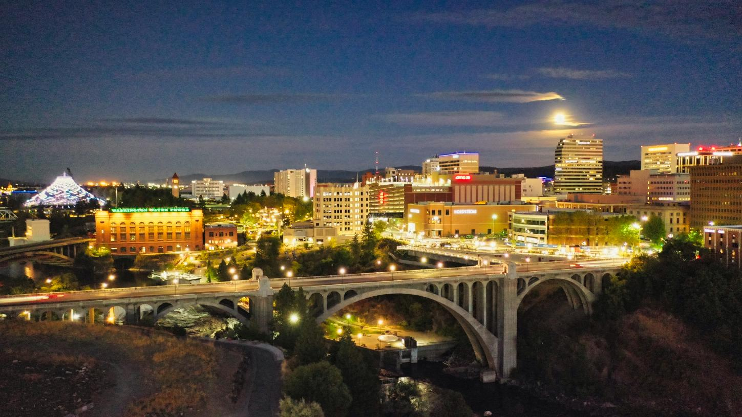 Downtown Spokane is a short 15-minute drive from your front door