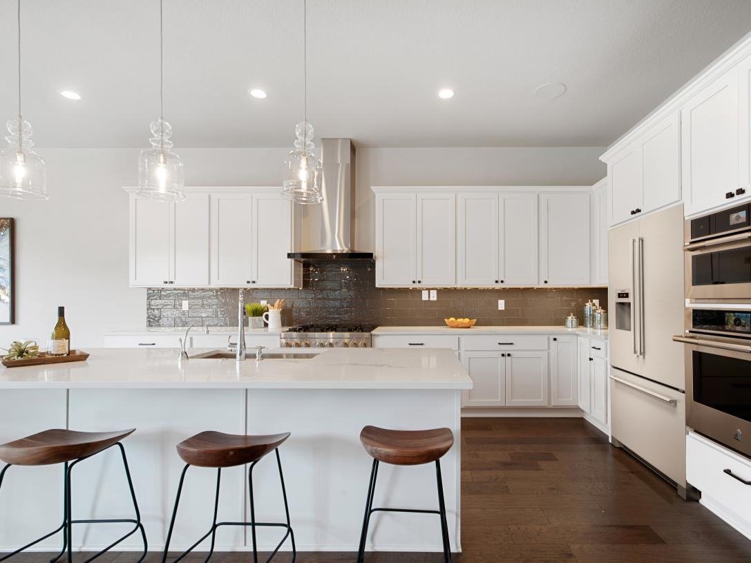 On-trend kitchen design offers plenty of cabinet storage