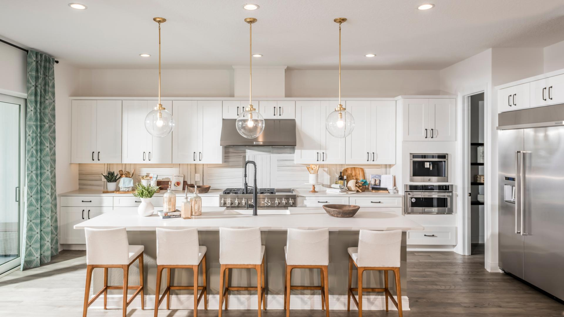 Gourmet kitchen with extra counter space for entertaining