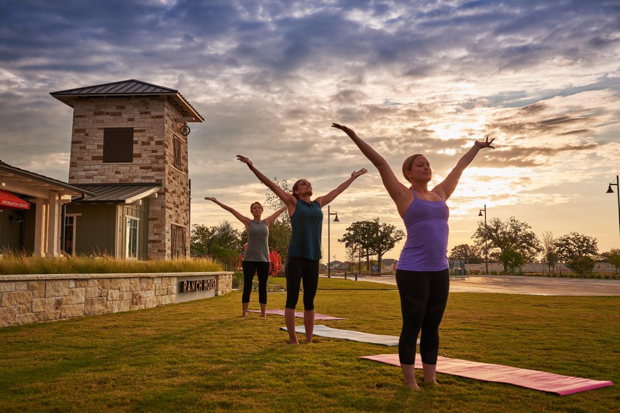 Enjoy yoga on the Great Lawn