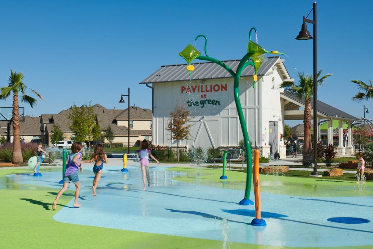 Fun to be had at The Green Splash Pad