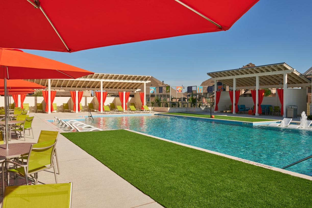 Soak up the sun by the resort-style pool