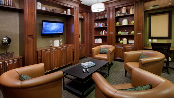 Spend some quiet time in the media room/library.