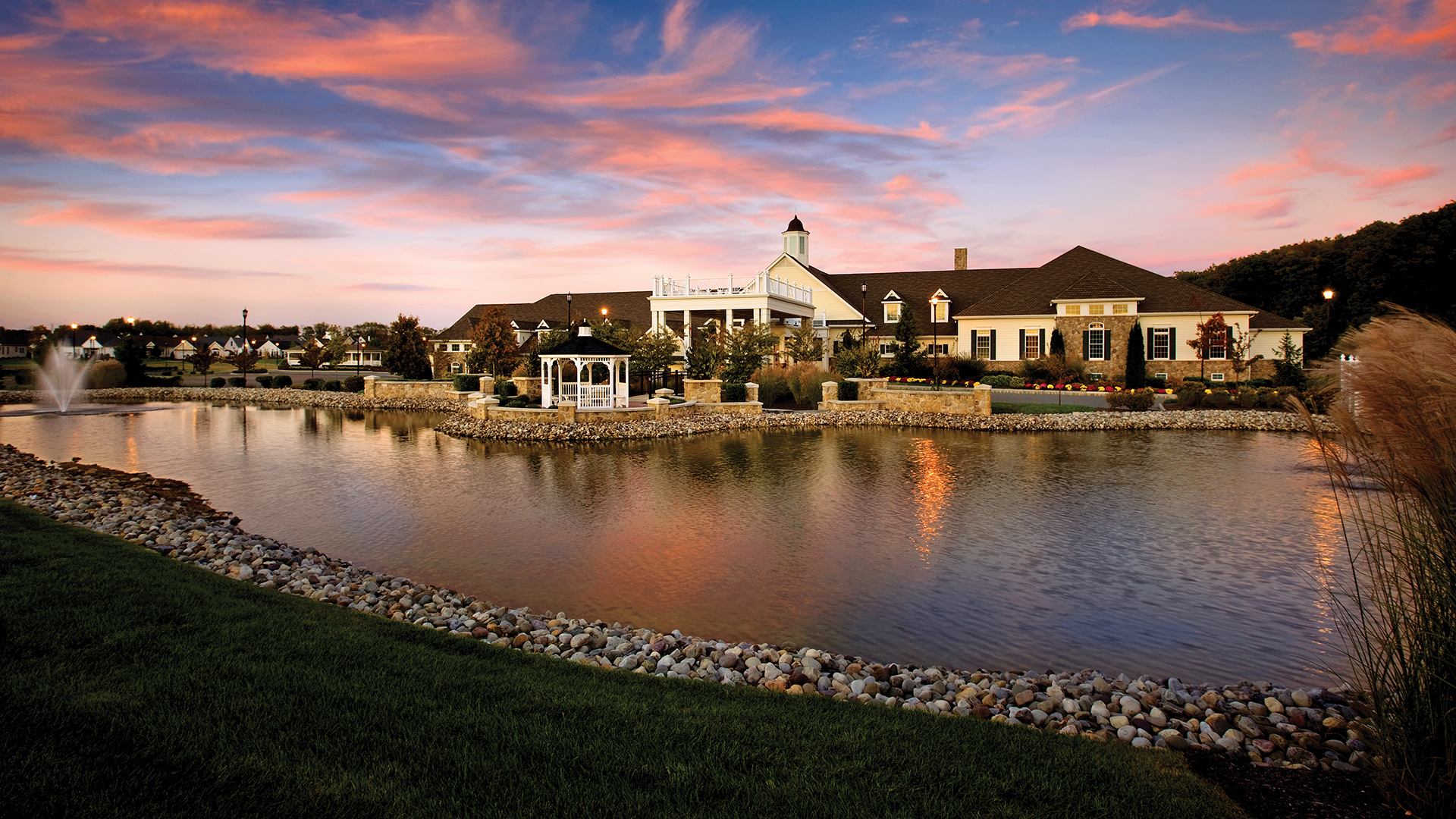 The spectacular 40,000 square foot community clubhouse at Regency at Monroe