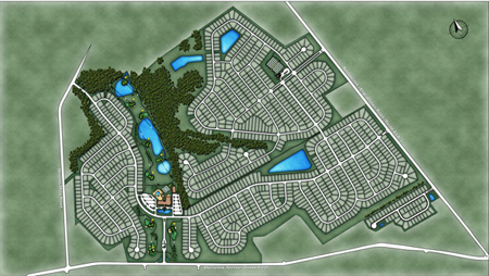 Image of the luxury communities overall site plan