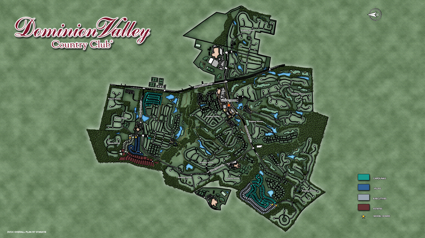 Dominion Valley Country Club - Executives Overall Site Plan