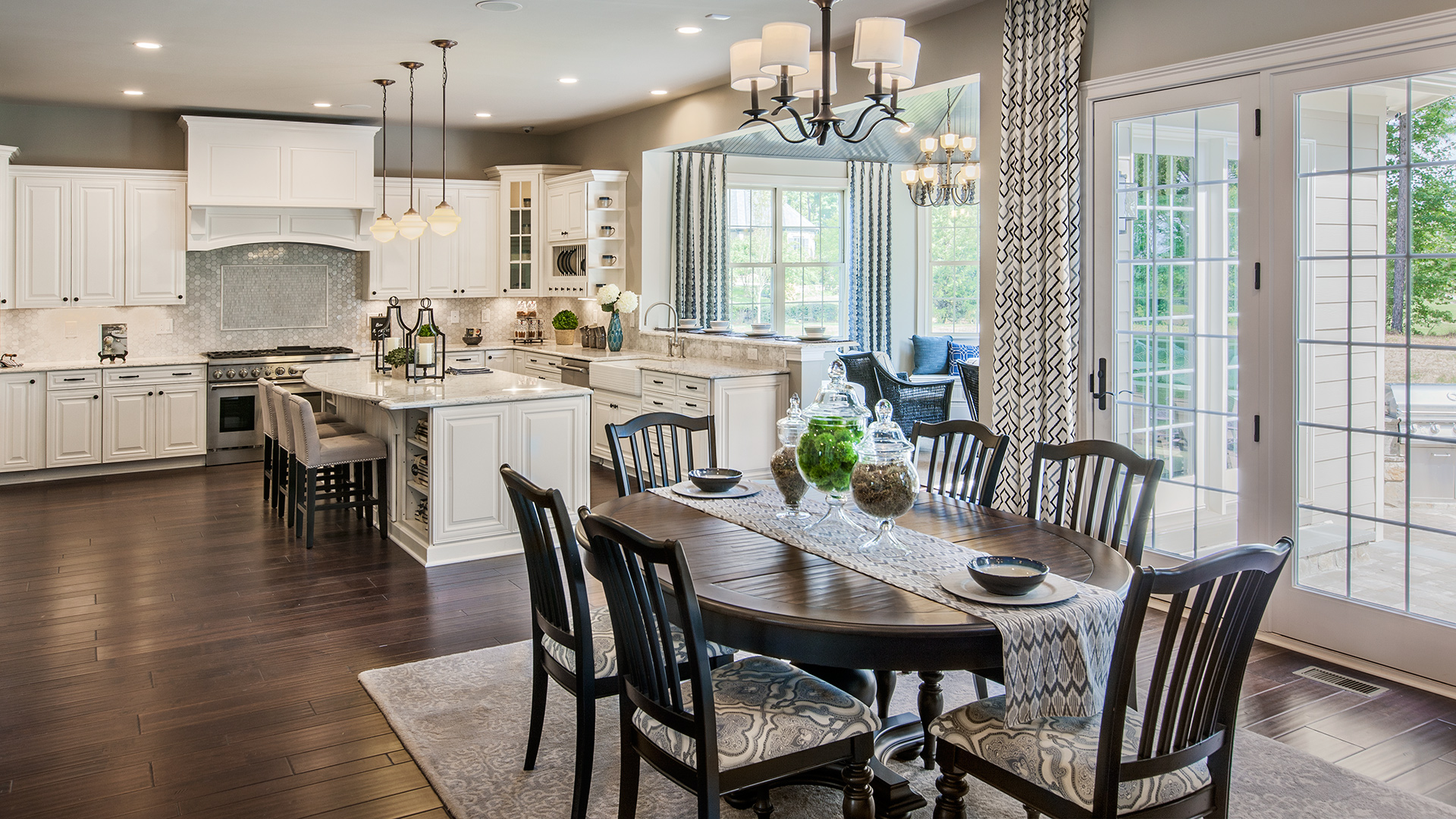 Gourmet kitchens offer large islands, walk-in pantries, hardwood floors, stainless steel appliances and more.