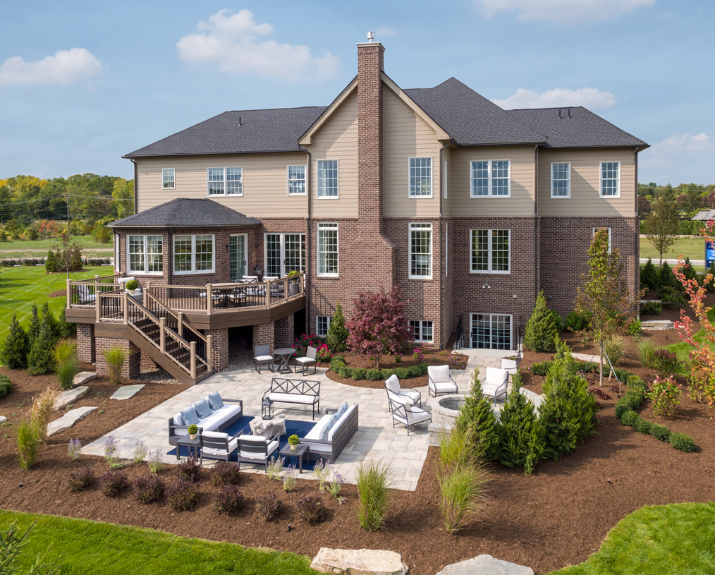 Expansive home sites make it possible to create an outdoor oasis