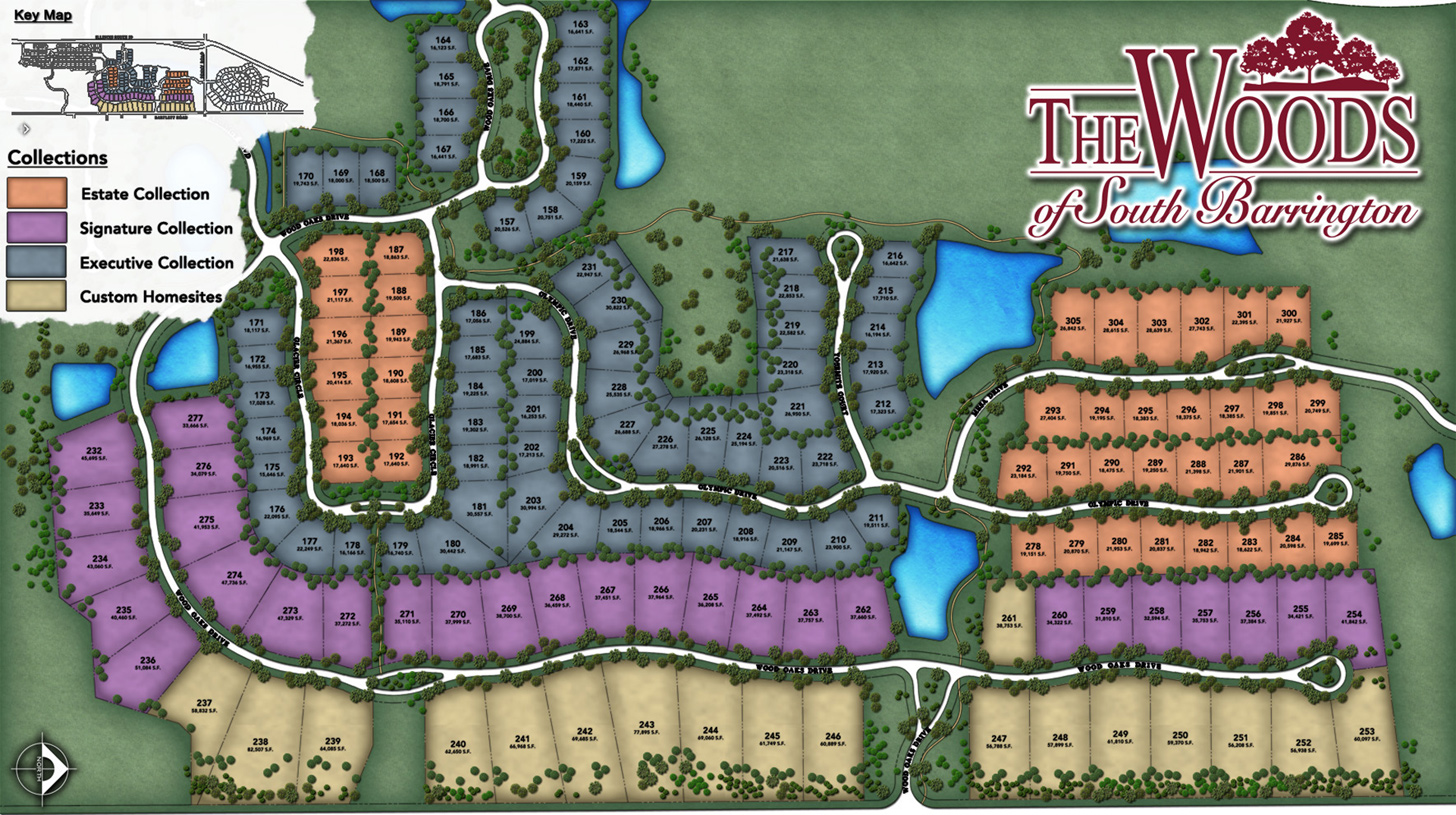 The Woods of South Barrington Overall Site Plan