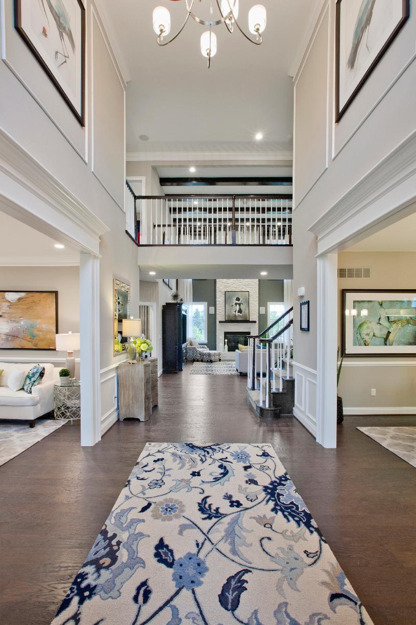 Standard two-story foyer
