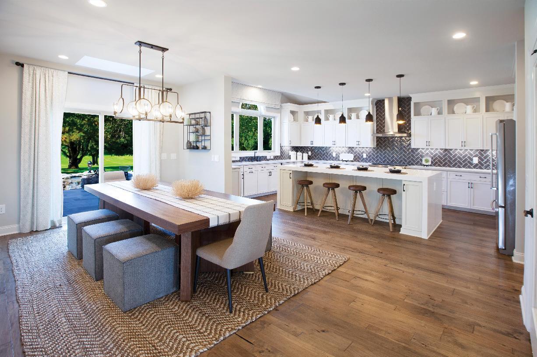 Optional Palladian kitchen layout