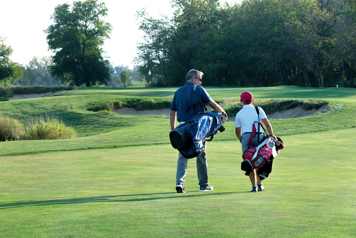 """Optional yearly or """"Member for a Day"""" golf memberships and golf lessons available"""