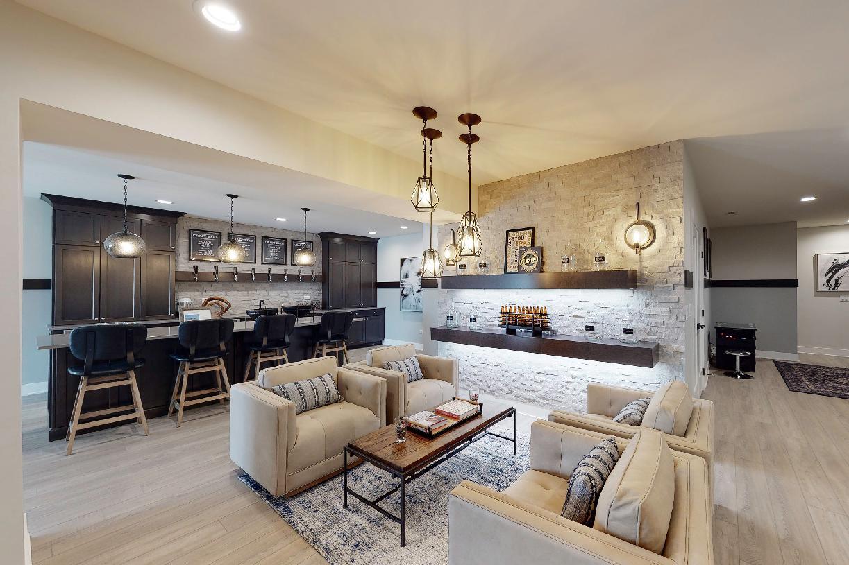 Optional finished basement