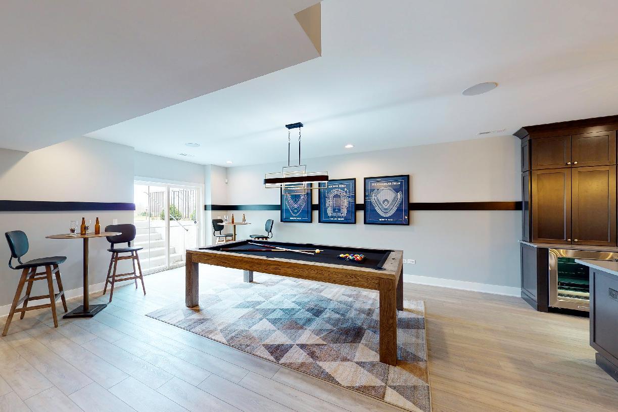 Optional finished basement - alternate view