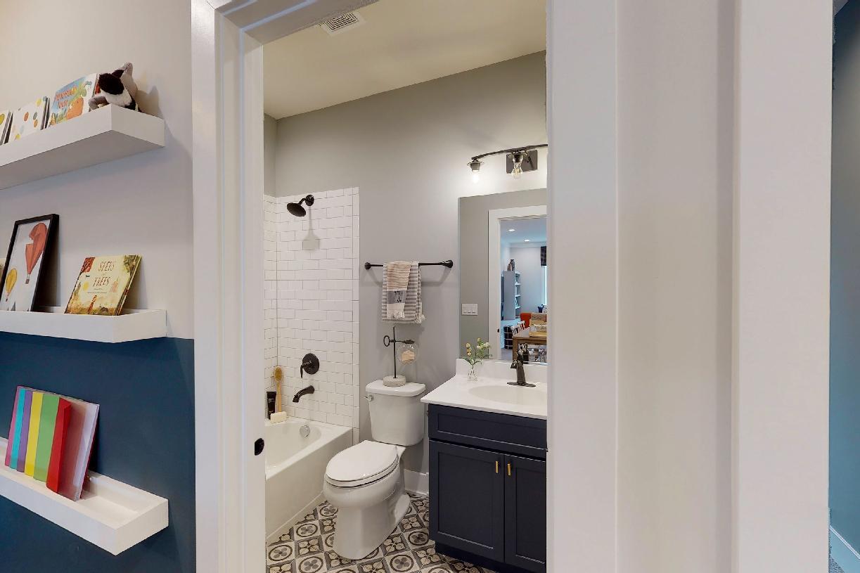 Full loft bathroom